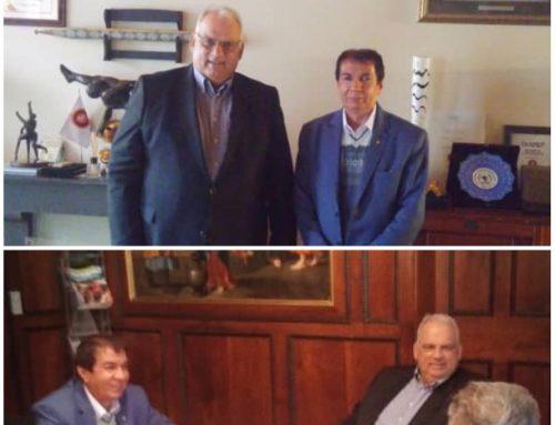 به دعوت رئیس اتحادیه جهانی کشتی؛دیدار و جلسه دکتر علی افتخاری با لالوویچ